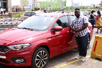 Dennis Quartey gets to use the car for the Easter Festivity