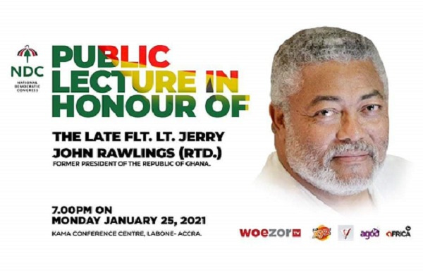 NDC announces January 25 public lecture in honour of Rawlings