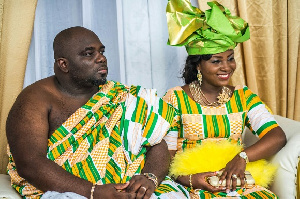 Kwadwo Asare Baffour Acheampong with his wife Valentina Ofori Afriyie