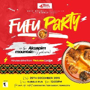 The Fufu party will be held on December 29 at Gyankama in Akuapem