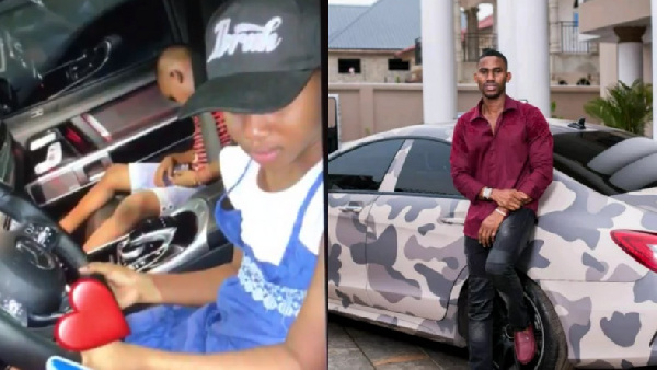 Ibrah One shockingly makes his underage daughter drive on highway