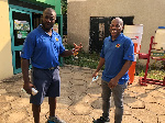 President of the Captain One Golf Society, Mr Pius Ayeh Appiah (L)