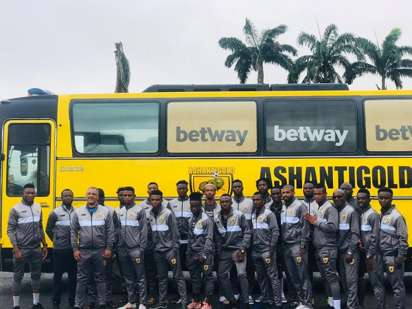 Ashgold left Ghana this morning for their game against Akonangui FC