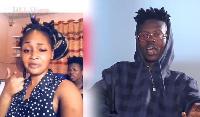 Ghanaian rapper Strongman Burner and his girlfriend, Nana Ama