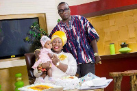 Gifty Anti with husband and daughter