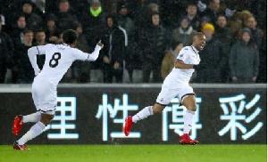 Jordan Ayew was very impressive in Swansea's victory over Liverpool