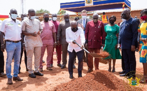 President Akufo-Addo cut sod for the constructed of the Ghana Award House