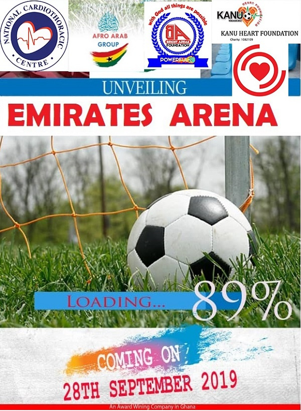 Emirates Arena will be unveiled on Saturday