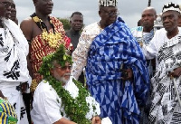 Former President John Jerry Rawlings as Togbuiga Nutifafa (Senior Peace chief)