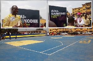 The newly built basketball court for POJOSS