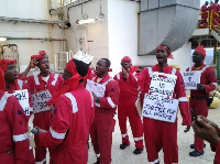 Some aggrieved workers on demonstration
