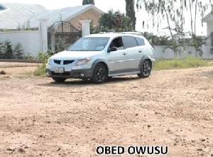 Obed Owusu's car