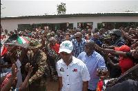 President John Mahama celebrates Christmas in Bole.