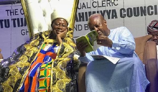 John Dramani Mahama with Sheik Salisu Shaban
