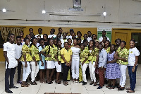 Participants in a group photo after the conference