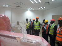 Vice president Kwesi Amissah-Arthur on a visit to the New University of Ghana Super Tertiary Hospita