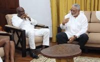 Kojo Bonsu paid a courtesy call on Former President Rawlings