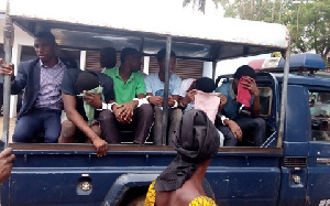 The suspects burst into tears after the court announced the adjournment and remanded them