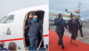 Guinea-Bissau president boards Falcon and his arrival in Sao Tome on official duty