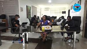 Abrantepa with his panelists - Vida Adutwumwaa Boateng, Nana Yaw Wiredu