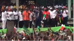John Dramani Mahama with some party members