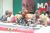 General Secretary of the opposition NDC, Johnson Asiedu Nketia with other Executives