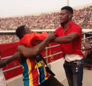 The boxer was captured on a video inflicting punches on a fan