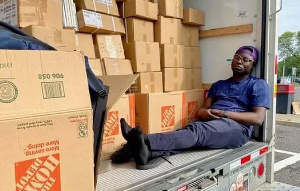 Some of the books have already been shipped and destined for Ghana