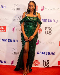 Yvonne Nelson at the premiere of her movie,  Fix Us