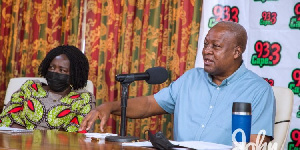 Mahama with his running mate for the 2020 polls, Prof Opoku Agyemang