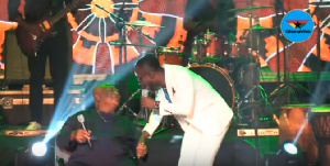 Nana Tuffuor and Okyeame Kwame at the MTN Music Festival