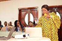 Registrar for the Ghana Psychology Council, Dr. Dinah Baah-Odoom (Right)