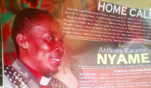 Posters of Rev Anthony Kwame Nyame have attracted sympathies from residents