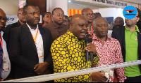 Deputy Minister of Energy, Joseph Cudjoe with some Association of Ghana Industries members