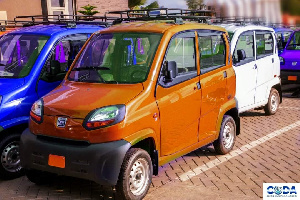 The Bajaj Qute vehicles were outdoored as part of the CODA Drive initiative