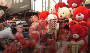 Some Val's day items on display at Makola