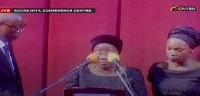 Matilda Amissah-Arthur delivered a heartfelt tribute at her  husband's funeral