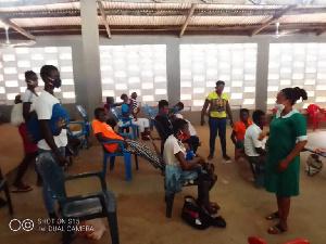 Samata Adogbongo is a midwife at the Anafobisi Health Centre