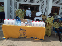 The group was led by Mr Emmanuel Bruce-Attah, who handed over the items to the school
