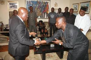 President Nana Addo Dankwa Akufo-Addo exchanging pleasantries with Kenpong