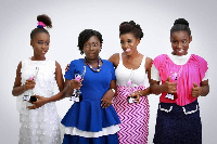 The girls were outdoored with a photo-shoot session at a short ceremony in Accra