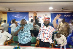 Prince Akuta being unveiled at the press conference