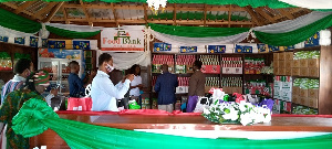The donation of the assorted food items to be used to start the programme, cost the MP GHC50,000.