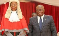 President Akufo-Addo with Justice Sophia Akuffo