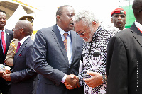 President Kenyatta waited in the sun over 15 minutes for his vehicle