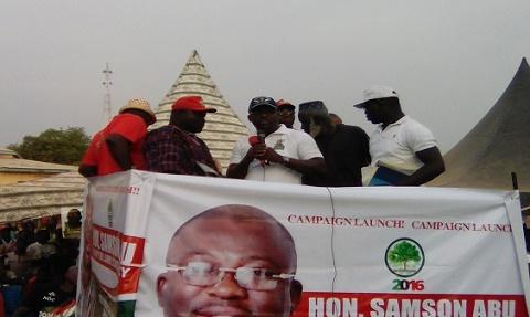 Samson Abu's campaign launch