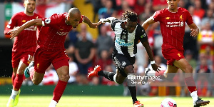 Atsu in action against the reds