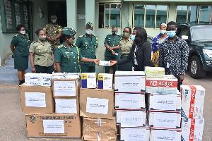 Items donated include 5,000 medical nose masks, 1,600 N95 nose masks, 800 medical goggles etc