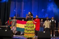 Yaa Yaa performs at the Ghana@60 edition of Africa Umoja