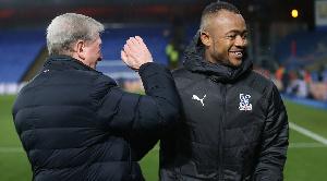 Black Stars striker, Jordan Ayew and his manager, Roy Hodgson